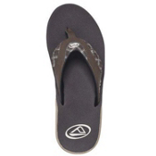 Reef Fanning Prints Mens Flip Flops, Brown-Brown Plaid, medium