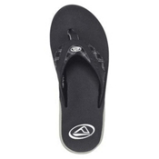 Reef Fanning Prints Mens Flip Flops, Black-Plaid, medium