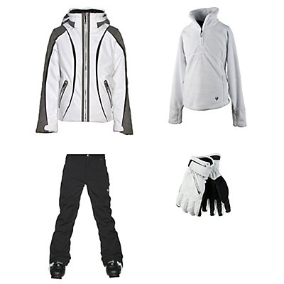 Obermeyer Dyna Jacket & Obermeyer Jolie Pants Teen Girls Outfit, , large