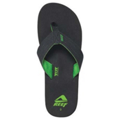 Reef Quencha TQT Mens Flip Flops, Black-Green, medium