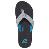 Reef Quencha TQT Mens Flip Flops, Black-Turquoise, medium