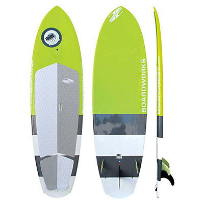 Boardworks Surf Mini Mod 8ft 5in Stand Up Paddleboard, White-Green-Blue, viewer