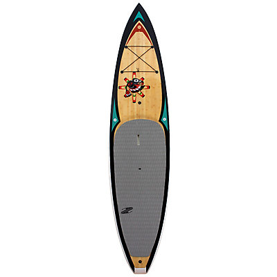 Boardworks Surf Raven 11ft 6in Touring Stand Up Paddleboard, Wood-Black-White, viewer