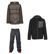 Burton Phase Jacket & Burton Exile Pants Kids Outfit, , medium