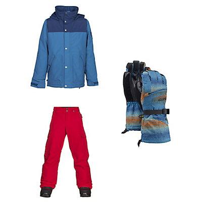 Burton Fray Jacket & Burton Exile Pants Kids Outfit, , large