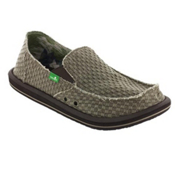 Sanuk Vagabond Yogi Mens Shoes, Olive, medium