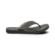 Sanuk Yogi 3 Mens Flip Flops, Charcoal, medium