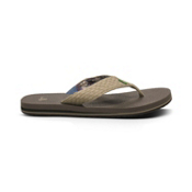 Sanuk Yogi 3 Mens Flip Flops, Natural, medium