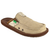 Sanuk You Got My Back II Mens Shoes, Tan, medium