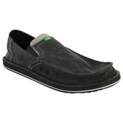 Sanuk Pick Pocket Mens Shoes, Charcoal, medium