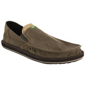 Sanuk Pick Pocket Mens Shoes, Brown, medium