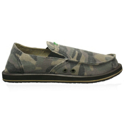 Sanuk Pick Pocket Mens Shoes, Camouflage, medium
