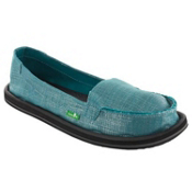 Sanuk Ohm My Womens Shoes, Teal, medium