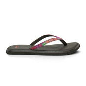 Sanuk Yoga Spree Funk Womens Flip Flops, Fuschsia, medium