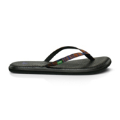 Sanuk Yoga Spree Funk Womens Flip Flops, Rust, medium