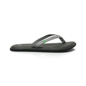 Sanuk Yoga Spree Womens Flip Flops, Silver, medium