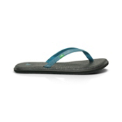 Sanuk Yoga Spree Womens Flip Flops, Teal, medium