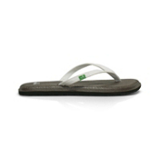 Sanuk Yoga Spree Womens Flip Flops, White, medium