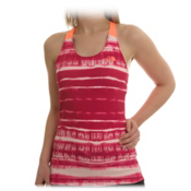 The North Face Class V Racerback Tank Womens Shirt, Fuschia Pink Shibori Print, medium
