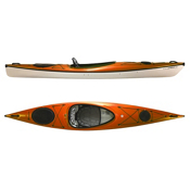 Hurricane Excursion 128 Touring Kayak 2013, Mango, medium