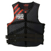 Liquid Force Watson Neo Adult Life Jacket 2013, Black-Red, medium