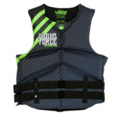 Liquid Force Watson Neo Adult Life Jacket 2013, Black-Green, medium