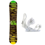Joyride Writing Yellow Snowboard and Binding Package 2013, , medium
