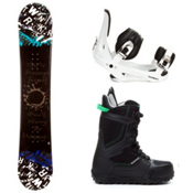 SLQ Twin Rocker Complete Snowboard Package 2013, , medium