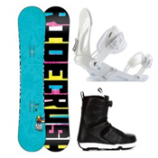 Ride Crush Complete Snowboard Package 2013, 152cm, medium