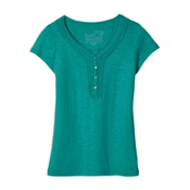 KUHL Vega Henley Womens T-Shirt, Spearmint, medium