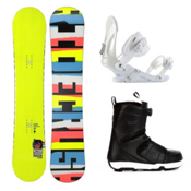 Ride Crush Wide Complete Snowboard Package 2013, 153cm, medium