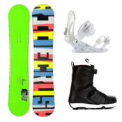 Ride Crush Wide Complete Snowboard Package 2013, 156cm, medium