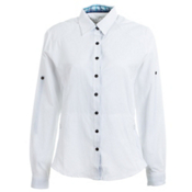 KUHL Wunderer L/S Womens Shirt, White, medium