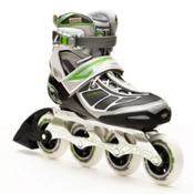 Rollerblade Tempest 90 Womens Inline Skates, Silver-Green, medium