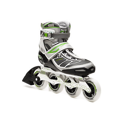 Rollerblade Tempest 90 Womens Inline Skates, Silver-Green, viewer