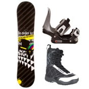 SLQ Black Rainbow Complete Kids Complete Snowboard Package 2013, , medium