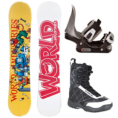 World Industries Operations Complete Kids Complete Snowboard Package, , large