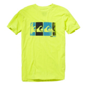 Quiksilver Bold T-Shirt, Neon Yellow, medium