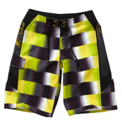 Quiksilver Talkabout Boys Bathing Suit, Lime Green, medium