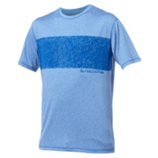 Quiksilver Line Up Short Sleeve Mens Rash Guard, Blue, medium
