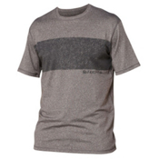 Quiksilver Line Up Short Sleeve Mens Rash Guard, Grey, medium