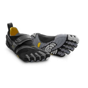 Vibram FiveFingers Komodosport Mens Athletic Shoes, Silver-Grey, medium