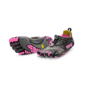 Vibram FiveFingers Komodosport LS Womens Athletic Shoes, Grey-Black-Pink, medium