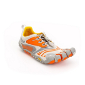 Vibram FiveFingers Komodosport LS Womens Athletic Shoes, Grey-Orange, medium