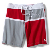 Oakley C-Block Board Shorts, Red Line, medium