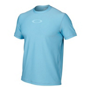 Oakley Ellipse Tee Mens Rash Guard, Ethereal Blue, medium