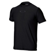 Oakley Ellipse Tee Mens Rash Guard, Jet Black, medium