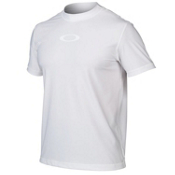 Oakley Ellipse Tee Mens Rash Guard, White, medium