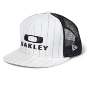 Oakley Pinstripe Trucker Hat, White, medium