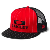 Oakley Pinstripe Trucker Hat, Red Line, medium
